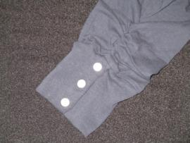 capri legging donkerblauw met drukknoopjes en elastische band