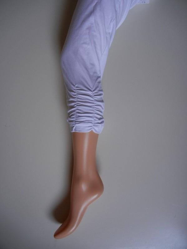 capri legging wit met geribbelde rand