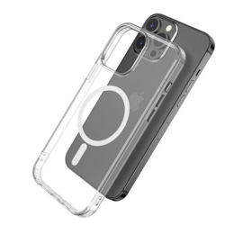 eSTUFF Magnetic Hybrid Clear Case for iPhone 13 Mini MagSafe Compatible