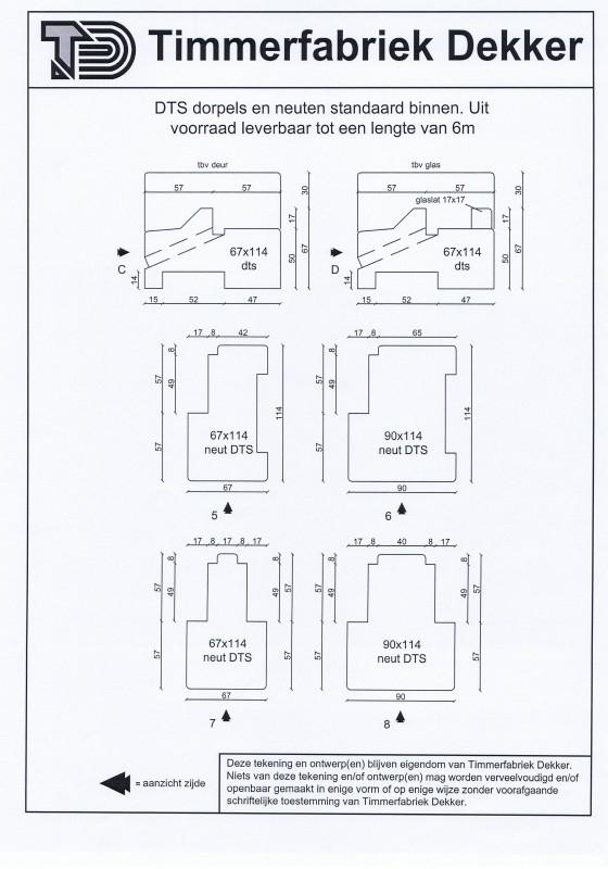 DTS glaslat binnen (17 x 17mm)  7,65 /mtr