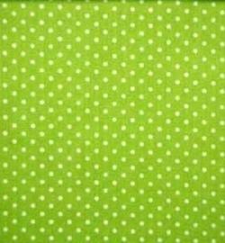 Wiegdeken LimeGroen Stipje