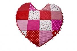 Hartvormig Boxkleed/ Speelkleed Roze/Rood