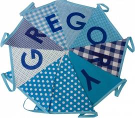 Vlaggetjes met naam: ontwerp Gregory