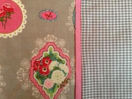 Aankleedkussenhoes Grijze ornamentjes
