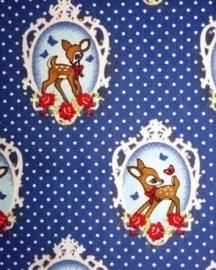 Tafelkleed Hertjes Donkerblauw