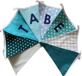 Vlaggetjes met naam: ontwerp Tabe