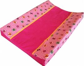 Aankleedkussenhoes Roze Uiltjes
