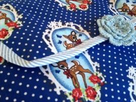Verschoonmatje Hertje Donkerblauw