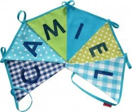 Vlaggetjes met naam: ontwerp Camiel