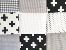 Boxkleed / Speelkleed: ZwartWit Grijs Wafel