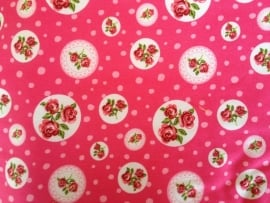 Ledikantdeken Roze Roosjes