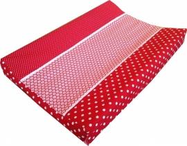 Aankleedkussenhoes Rood Bloemetje