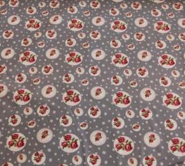 Tafelkleed Grijze Roosjes 150 x 140 cm