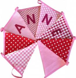 Vlaggetjes met naam: ontwerp Anne