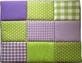 Boxkleed / Speelkleed: Groene Paarse sterren