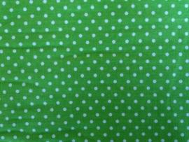 Ledikantdeken Groen Stipje