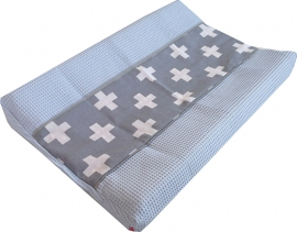Aankleedkussenhoes Wafel Babyblauw