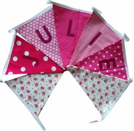 Vlaggetjes met naam: ontwerp Julie