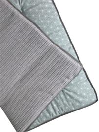 Boxkleed/ Speelkleed: Geobloem pastelgroen