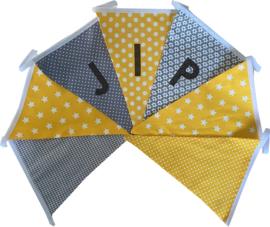 Vlaggetjes met naam: ontwerp Jip