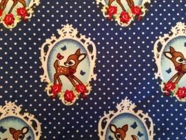Ledikantdeken Bambi Donkerblauw