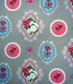 Tafelkleed Ornamentjes Grijs