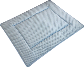 Boxkleed/ Speelkleed: Minky Babyblauw 75 x 95 cm