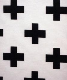 Stof Wit zwarte plus
