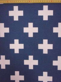 Stof Blauw witte plus