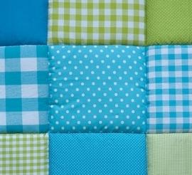 Boxkleed / Speelkleed: Groen met Blauw