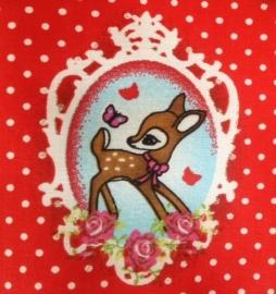 Ledikantdeken Bambi Rood