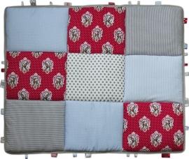 Boxkleed / Speelkleed: Hertjes Roodblauw