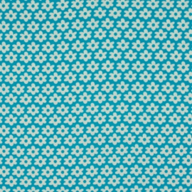Bloemetjes Aquablauw