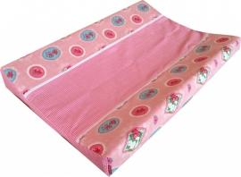 Aankleedkussenhoes Roze ornamentjes