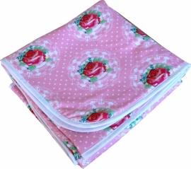 Ledikantdeken Rozen Kitsch Roze