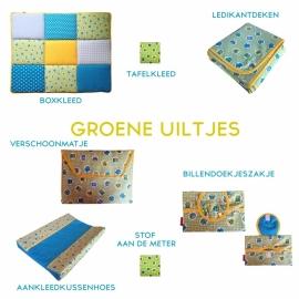 Boxkleed / Speelkleed: Groene Uiltjes