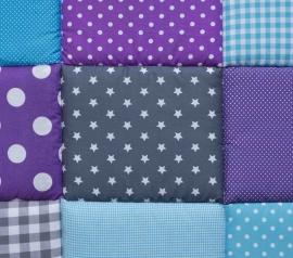 Boxkleed / Speelkleed: Paars Blauw met ster