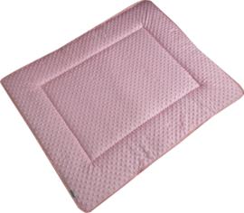Boxkleed/ Speelkleed: Minky Roze 75 x 95 cm
