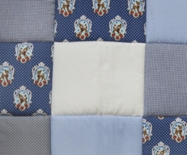 Boxkleed / Speelkleed: Hertjes Donkerblauw