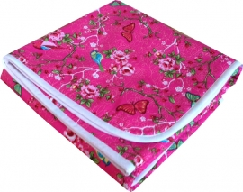 Wiegdeken Roze Vogels en Vlinders