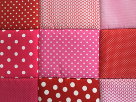 Boxkleed / Speelkleed: Roze met Rood