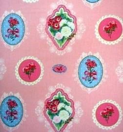 Stof Ornamentjes roze