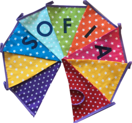 Vlaggetjes met naam: ontwerp Sofia