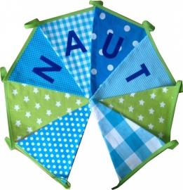 Vlaggetjes met naam: ontwerp Naut