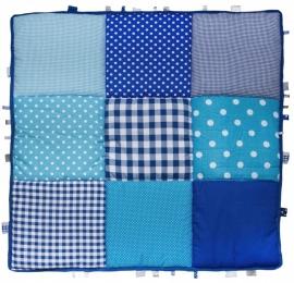 Boxkleed / Speelkleed: Donkerblauw met blauw