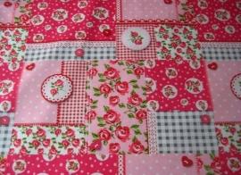 Tafelkleed Patch Roosjes Roze