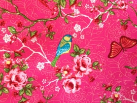 Verschoonmatje Roze Vogels en Vlinders