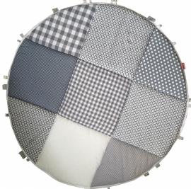 Boxkleed / Speelkleed: Grijs met wit