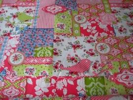 Tafelkleed Vogels Groen en Roze
