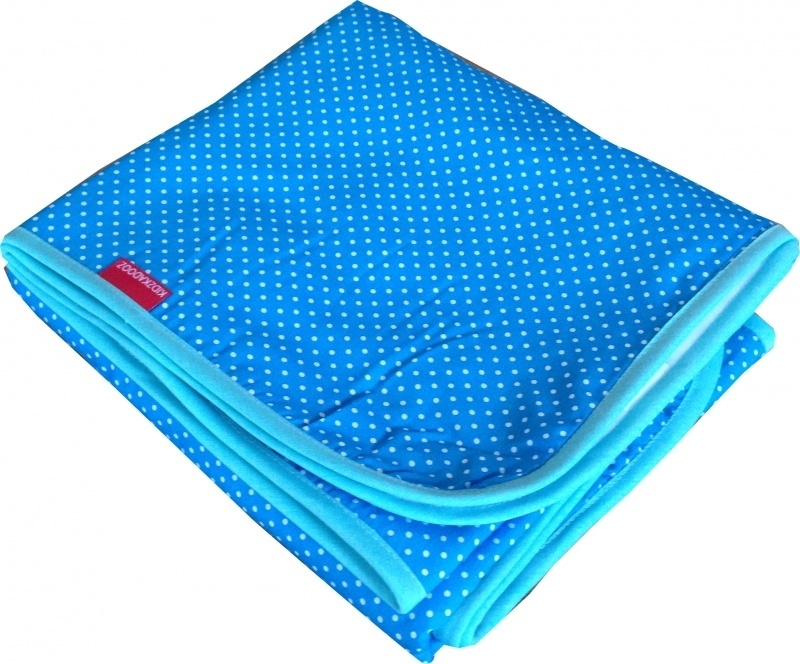 Wiegdeken Aquablauw Stipje